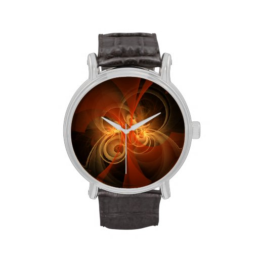 Arte abstracto mágico de la mañana relojes de pulsera