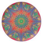 Arte abstracto Malamine Plate_R&B del efecto marip Platos De Comidas