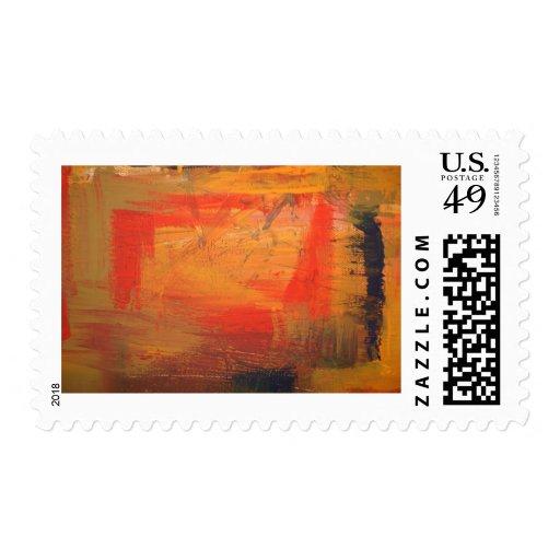 Arte abstracto minimalista sello