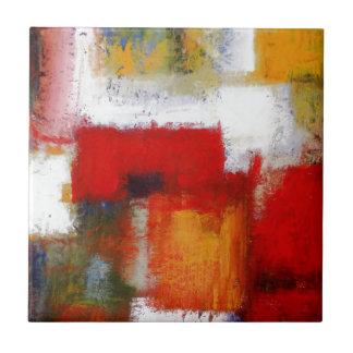 Arte abstracto moderno azulejo cuadrado pequeño