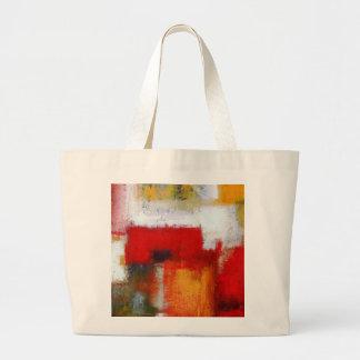 Arte abstracto moderno bolsa de tela grande