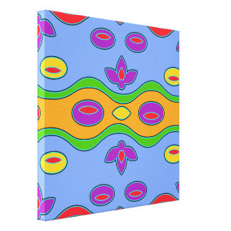 Arte abstracto moderno colorido enrrollado impresiones en lona