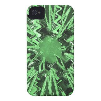 Arte abstracto moderno de la estrella de la chispa Case-Mate iPhone 4 coberturas