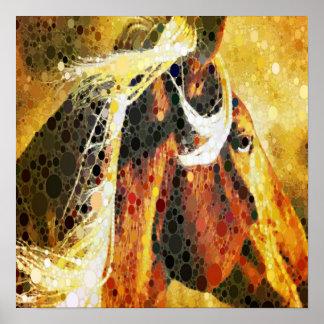 arte abstracto moderno del país occidental del cab póster