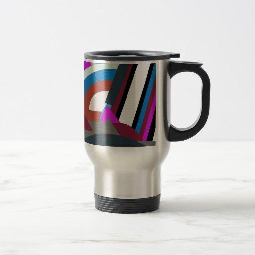 Arte abstracto moderno elegante taza térmica