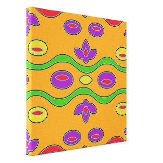 Arte abstracto moderno enrrollado anaranjado impresión en lona estirada