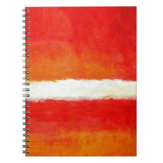 Arte abstracto moderno - estilo de Rothko Libretas Espirales