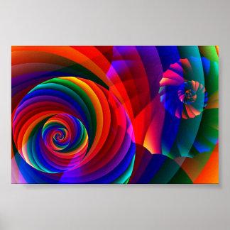 Arte abstracto moderno fresco del fractal del colo posters