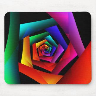 Arte abstracto moderno fresco lindo de la flor mouse pad