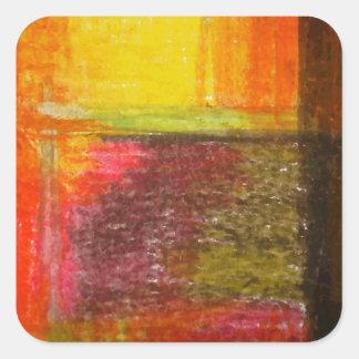 Arte abstracto moderno pegatina cuadrada