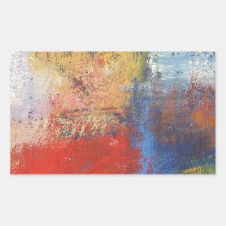 Arte abstracto moderno pegatina rectangular