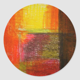 Arte abstracto moderno pegatina redonda