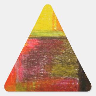 Arte abstracto moderno pegatina triangular