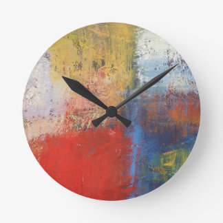 Arte abstracto moderno reloj redondo mediano