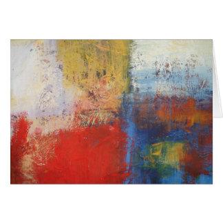 Arte abstracto moderno tarjeta de felicitación