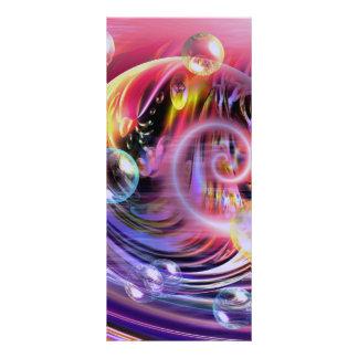 """Arte abstracto moderno folleto publicitario 4"""" x 9"""""""
