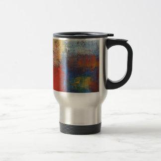 Arte abstracto moderno taza térmica