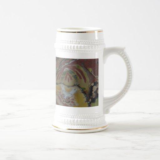 Arte abstracto moderno único jarra de cerveza