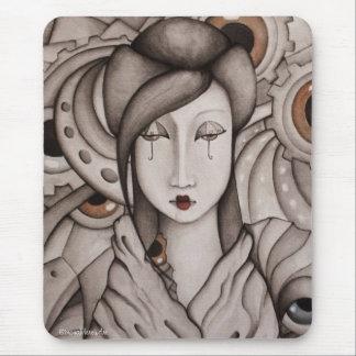 Arte abstracto Mousepad del geisha Tapetes De Ratones