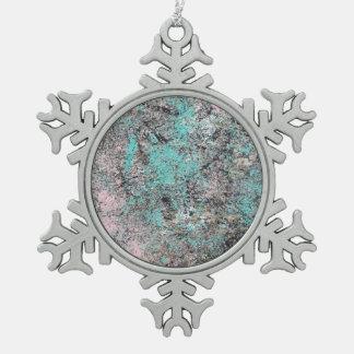 Arte abstracto - musgo adorno de peltre en forma de copo de nieve