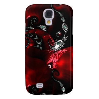 Arte abstracto negro rojo samsung galaxy s4 cover