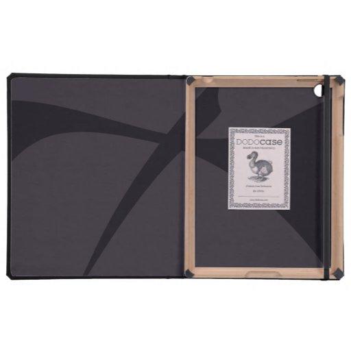 Arte abstracto negro simple iPad fundas