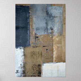 """Arte abstracto neutral """"visionario"""" póster"""