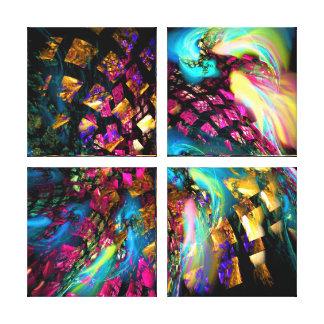 Arte abstracto: Pedazos de un sueño Impresion En Lona
