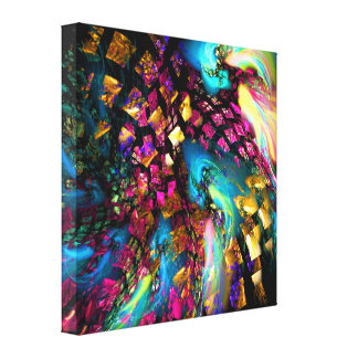 Arte abstracto: Pedazos de un sueño Impresión De Lienzo