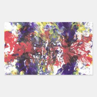 arte abstracto pegatina rectangular