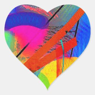 Arte abstracto pegatina corazon