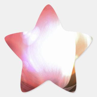 Arte abstracto colcomanias forma de estrella personalizadas