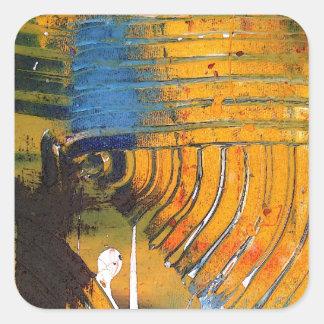 Arte abstracto pegatina cuadrada