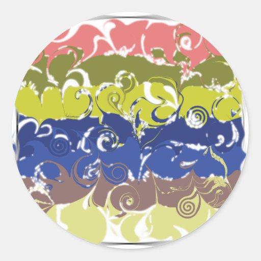 Arte abstracto pegatina redonda