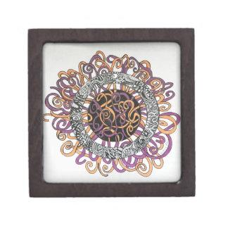 Arte abstracto pequeño y enredado cajas de joyas de calidad