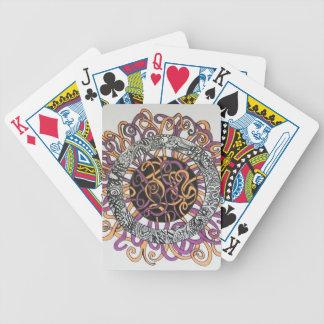 Arte abstracto pequeño y enredado baraja de cartas