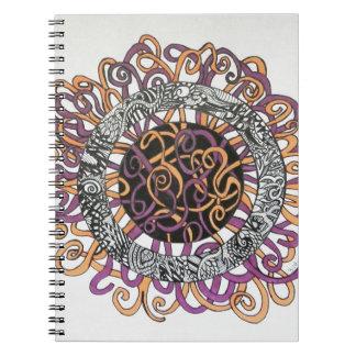 Arte abstracto pequeño y enredado libretas espirales