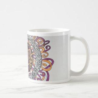 Arte abstracto pequeño y enredado tazas