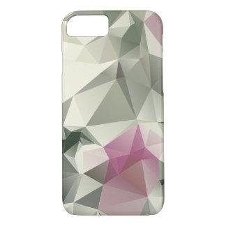 Arte abstracto poner crema rosado de la pirámide funda iPhone 7
