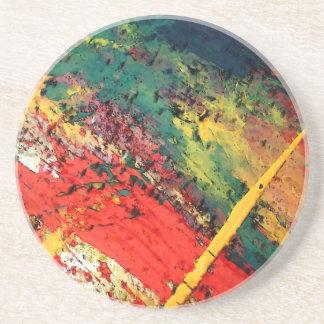 Arte abstracto posavasos personalizados