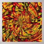 arte abstracto psicodélico posters