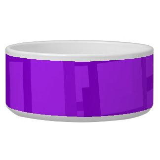 Arte abstracto púrpura cambiante tazon para perro