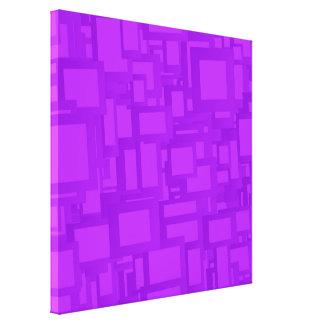 Arte abstracto púrpura cambiante impresión en lona