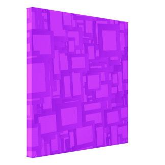 Arte abstracto púrpura cambiante impresión en lona estirada
