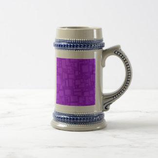 Arte abstracto púrpura cambiante jarra de cerveza