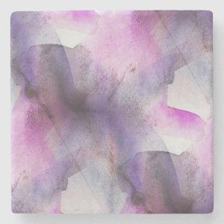 arte abstracto púrpura del cubismo inconsútil posavasos de piedra