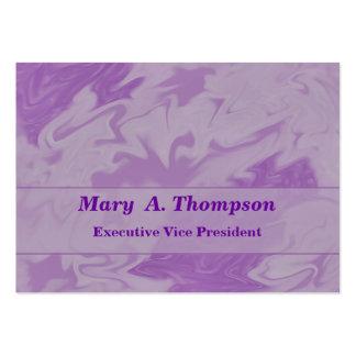 Arte abstracto púrpura en colores pastel tarjetas de visita grandes