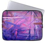 Arte abstracto púrpura que pinta 3 fundas portátiles