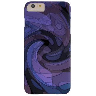Arte abstracto púrpura y negro funda de iPhone 6 plus barely there