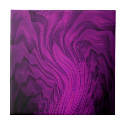 Arte abstracto púrpura y negro teja